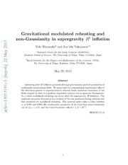 Gravitational modulated reheating and non-Gaussianity in Supergravity R^2 inflation