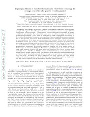 Lagrangian theory of structure formation in relativistic cosmology II: average properties of a generic evolution model