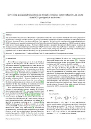Low-lying quasiparticle excitations in strongly-correlated superconductors: An ansatz from BCS quasiparticle excitations