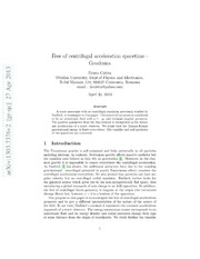 Free of centrifugal acceleration spacetime - Geodesics