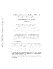 On Bilinear Forms from the Point of View of Generalized Effect Algebras