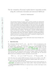 On the estimation of normal copula discrete regression models using the continuous extension and simulated likelihood