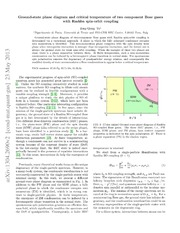 Ground-state phase diagram and critical temperature of two-component Bose gases with Rashba spin-orbit coupling