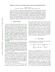 Hard-core bosons in one-dimensional interacting topological bands