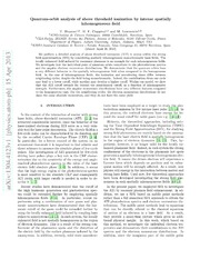 Quantum-orbit analysis of above threshold ionization by intense spatially inhomogeneous field
