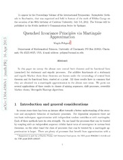 Quenched Invariance Principles via Martingale Approximation