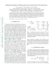 Lifetime and fragment correlations for the two-neutron decay of $^{26}$O ground state