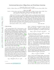 Gravitational Interaction of Higgs Boson and Weak Boson Scattering
