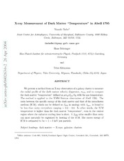 X-ray Measurement of Dark Matter Temperature in Abell 1795