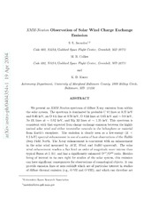 XMM-Newton Observation of Solar Wind Charge Exchange Emission