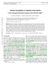 Zeeman tomography of magnetic white dwarfs II. The quadrupole-dominated magnetic field of HE 1045-0908