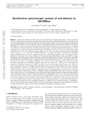 Quantitative spectroscopic analysis of and distance to SN1999em