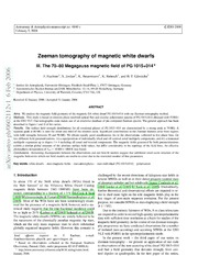 Zeeman tomography of magnetic white dwarfs III. The 70-80 Megagauss magnetic field of PG 1015 014