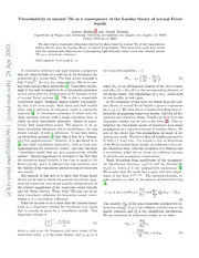 Viscoelasticity in normal $^{3}$He as a consequence of the Landau theory of normal Fermi liquids