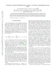 Vertically extended Frenkel-Kontorova model: a real space renormalization group study