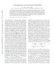 $Z 2$ Topological Order and the Quantum Spin Hall Effect
