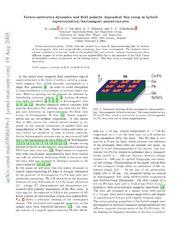 Vortex-antivortex dynamics and field-polarity-dependent flux creep in hybrid superconductor-ferromagnet nanostructures