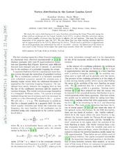 Vortex distribution in the Lowest Landau Level