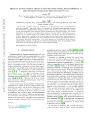 Quantum master equation scheme of time-dependent density functional theory to time-dependent transport in nano-electronic devices