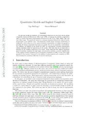 Quantitative Models and Implicit Complexity