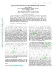 Vortex critical behavior at the de-confinement phase transition