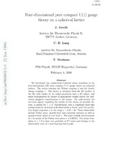 The Coulomb law in the pure gauge U(1) theory on a lattice ...
