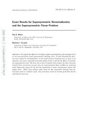 supersymmetric quantum mechanics thesis