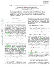 Two-Loop Analysis of Gauge Coupling Unification with ...