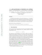 $e^ e^-$ pair production in relativistic ions collision and its correspondence to electron-ion scattering