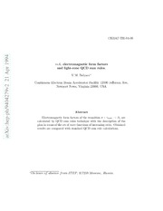 $π$-$A 1$ electromagnetic form factors and light-cone QCD sum rules