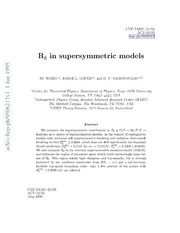 $R b$ in supersymmetric models
