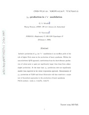 $χ {c J}$ production in $e^ e^-$ annihilation
