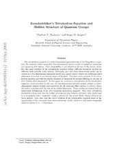 Zamolodchikovs Tetrahedron Equation and Hidden Structure of Quantum Groups