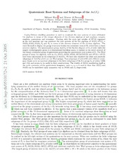 Quaternionic Root Systems and Subgroups of the $AutF {4}$