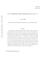 $SL(2,Z)$ Self-duality of Super D3-brane Action on $AdS 5 	imes S^5$
