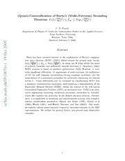 Quasi-Convexification of Bartas Multi-Extrema Bounding Theorem