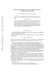 Some properties of the distance function and a conjecture for Manolo de giorgi