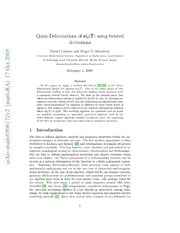 Quasi-Deformations of sl 2F using twisted derivations