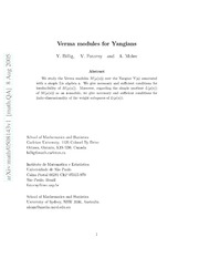 Verma modules for Yangians