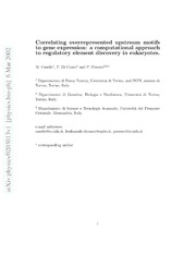 correlating overrepresented upstream motifs to gene expression a computational approach to. Black Bedroom Furniture Sets. Home Design Ideas