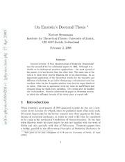 Einstein doctoral thesis