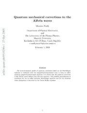 Quantum mechanical corrections to the Alfven waves