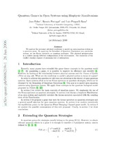 Quantum Games in Open Systems using Biophysic Hamiltonians