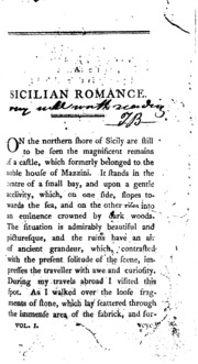 a sicilian romance by ann radcliffe essay Biographies & essays biography and autobiography essays letters administrative records a sicilian romance by ann ward radcliffe vol 1 of 2 a sicilian romance.