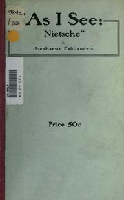 As I see : Nietsche !