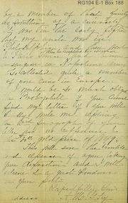Asks return of letters to Bosbyshell
