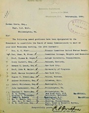 Assay Commissioners for 1896