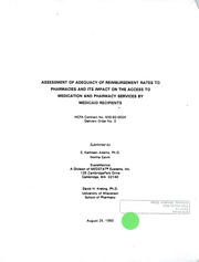 Assessment of adequacy of reimbursement rates to pharmacies and its impact on the access to medication and pharmacy services by Medicaid recipients