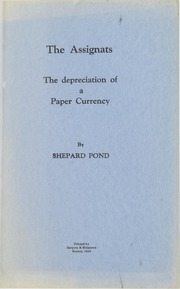 The Assignats: The depreciation of a Paper Currency