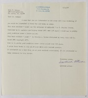 Eric P. Newman Assorted Correspondence and Ephemera File: AK to AL